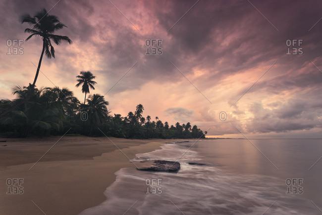 Caribbean dream beach in sunset, Punta Vacia, Puerto Rico, Caribbean island
