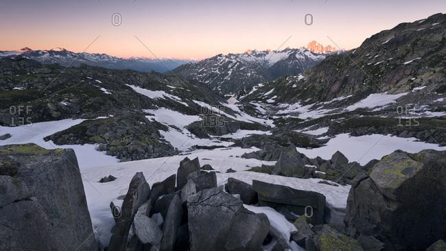Rocks and pinnacles near Grimsel Pass, Uri / Bern, Switzerland
