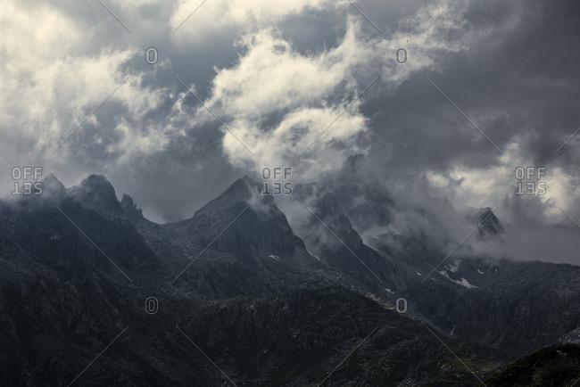 Cima Cornisello in thunderstorm light, Adamello Brenta Natural Park, Trentino, Italy