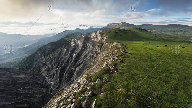 Scarp near Mont Aiguille, Dauphine, France