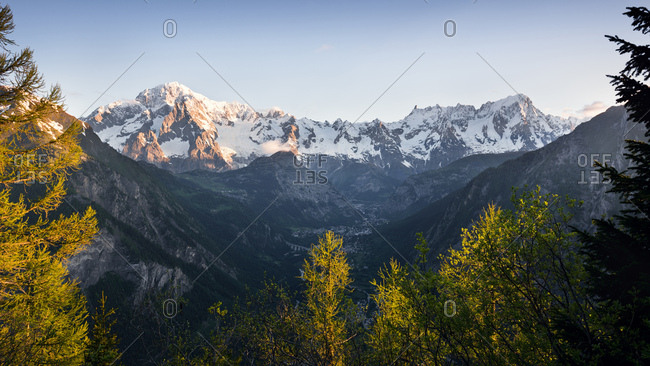 Mont Blanc of La Thuile, Aosta Valley, Italy
