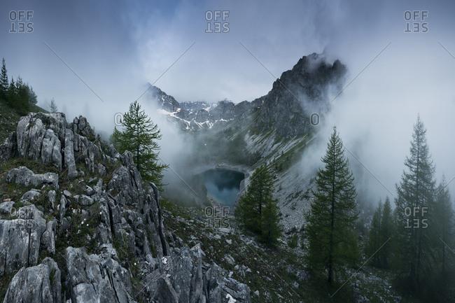 Lago Visaisa in Val Maira, Piedmont, Italy