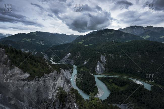 Rhine loop near Flims, Grisons, Switzerland