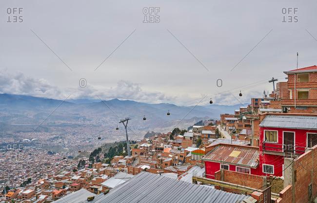 December 8, 2017: Rooftop cityscape, El Alto, La Paz, Bolivia, South America