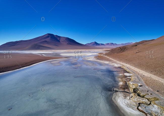 Scenic view of landscape, Salar de Chalviri, Chalviri, Oruro, Bolivia, South America