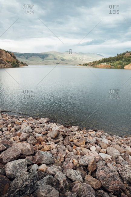 Scenic view of Dillon Reservoir, Silverthorne, Colorado, USA