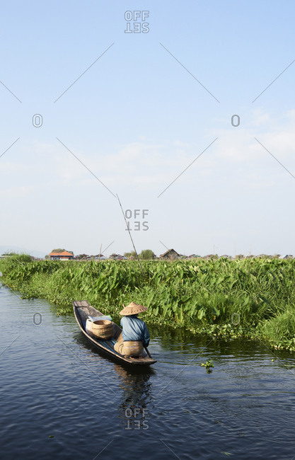 Myanmar- Inle lake- Burmese fisherman