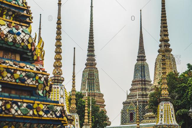 Thailand- Bangkok- pagodas of Wat Pho temple