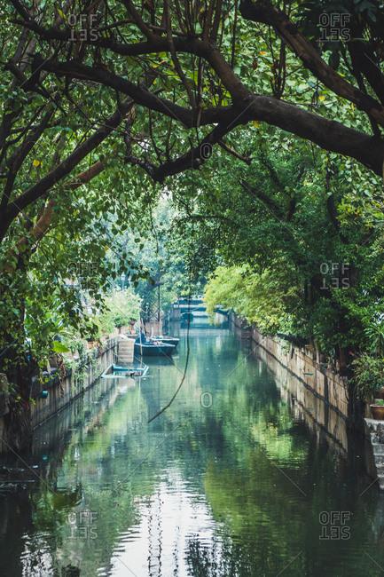 Thailand- Bangkok- river in the city