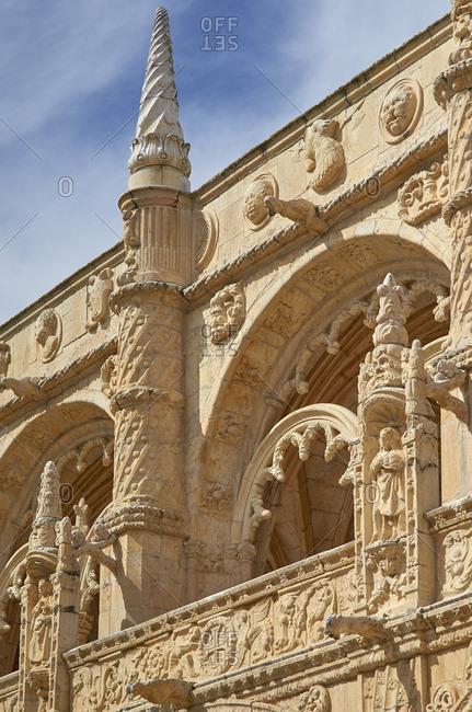 Detail of the Jeronimos Monastery, Lisbon, Portugal