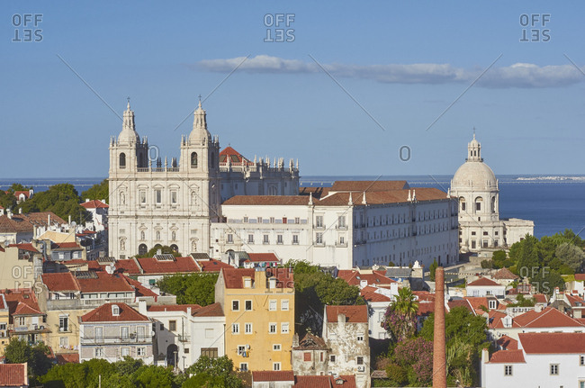 The Igreja de Sao Vicente de Fora and the Church of Santa Engracia, Lisbon, Portugal