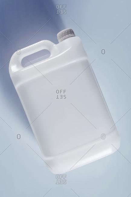 White plastic canister.