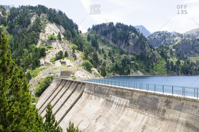 Colomers Lakes in the catalan Pyrenees, Spain. Part of the Parc Nacional d'Aiguestortes i Estany de Sant Maurici.