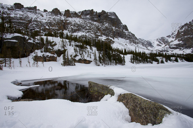 Winter in Rocky Mountains