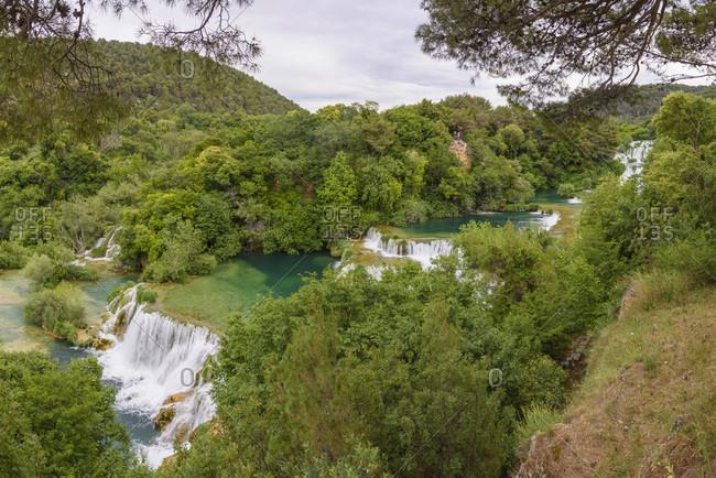 Skradinski Buk, waterfalls, Krka National Park, Croatia, Europe
