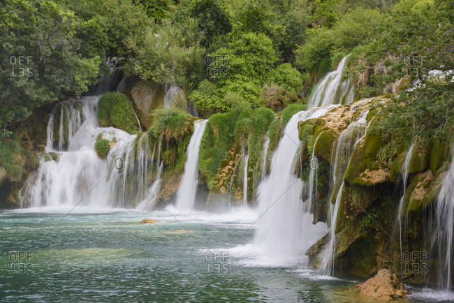 Skradinski Buk, waterfalls, Krka National Park, Croatia, Europe