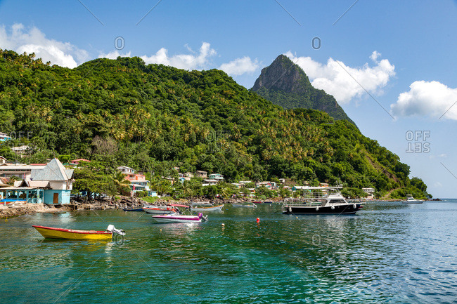 Petit Piton from Soufriere, St. Lucia, Windward Islands, West Indies Caribbean, Central America