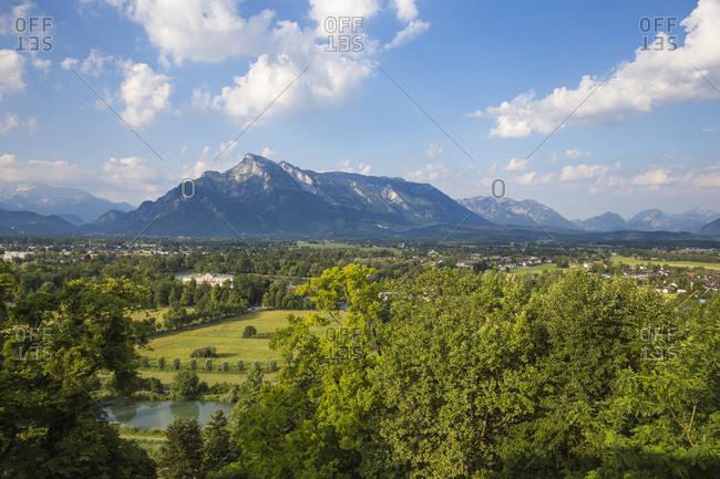 View towards Leopoldskron Palace, Salzburg, Austria, Europe