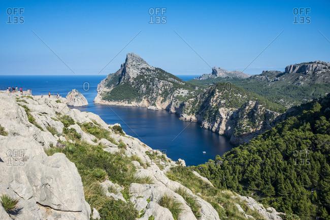 Beautiful view over the cliffs of Cap Formentor, Mallorca, Balearic Islands, Spain, Mediterranean, Europe