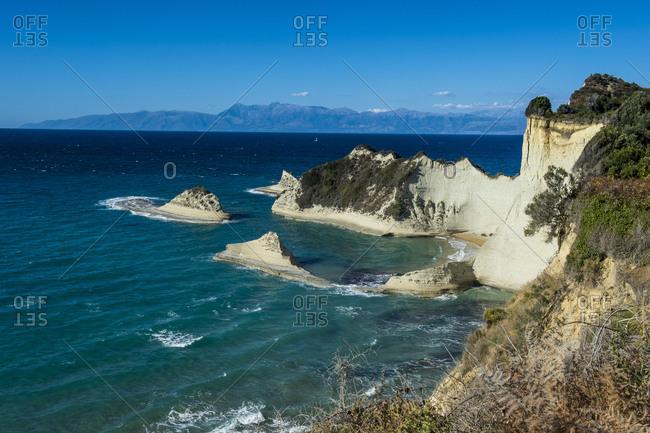 Most northern point Cape Drastis, Corfu, Ionian Islands, Greek Islands, Greece, Europe