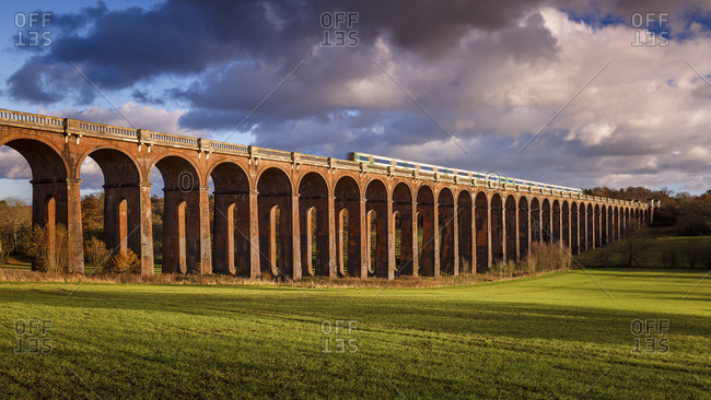 The Ouse Valley Viaduct (Balcombe Viaduct) over the River Ouse in Sussex, England, United Kingdom, Europe