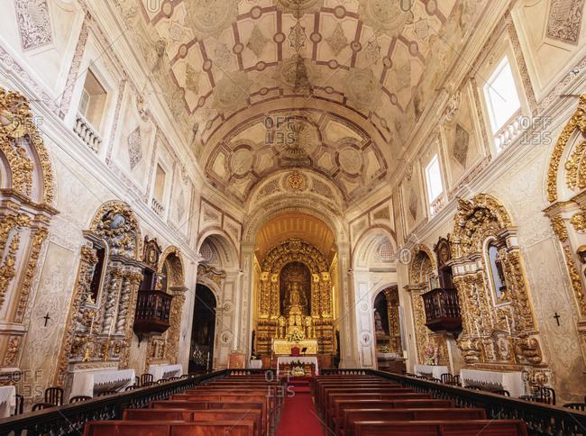 May 28, 2014: Church of Sao Pedro, interior, Ponta Delgada, Sao Miguel Island, Azores, Portugal, Atlantic, Europe