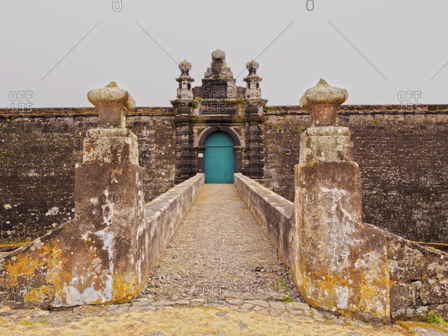 Castle of Sao Filipe (Sao Joao Baptista do Monte Brasil), UNESCO World Heritage Site, Angra do Heroismo, Terceira Island, Azores, Portugal, Atlantic, Europe