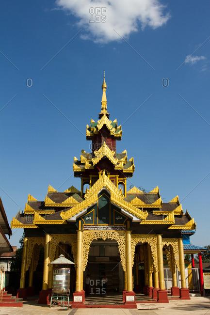 January 22, 2015: Temple of the Shwemawdaw Pagoda complex, Bagan (Pagan), Myanmar (Burma), Asia