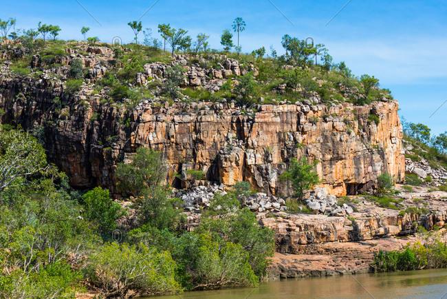 Rugged terrain at Katherine Gorge, Nitmiluk National Park, Northern Territory, Australia, Pacific