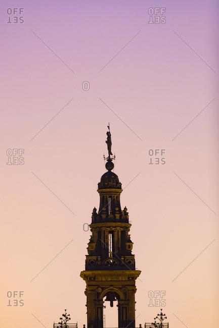 Spain, Seville, Silhouette of Giralda tower