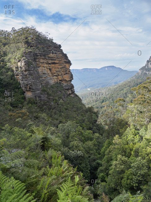 Australia, New South Wales, Wentworth Falls, Horizon over mountains on sunny day