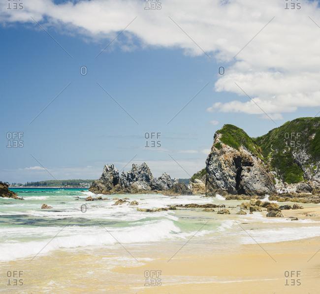 Australia, New South Wales, Bermagui, Scenic view of sea and coastline