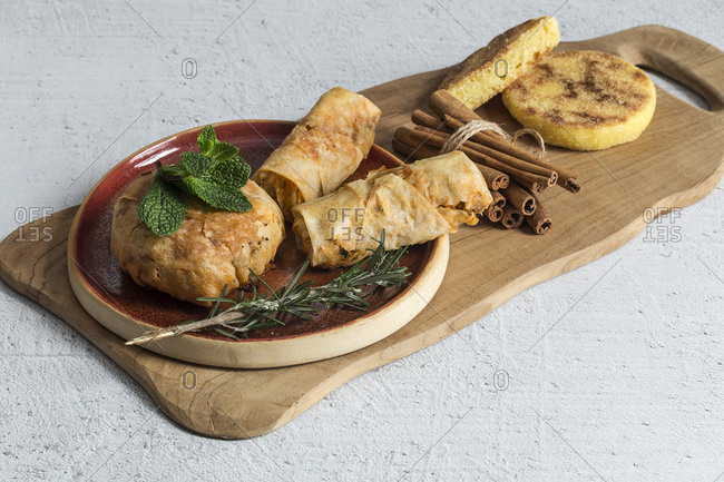 Typical Moroccan food, halal pastela.
