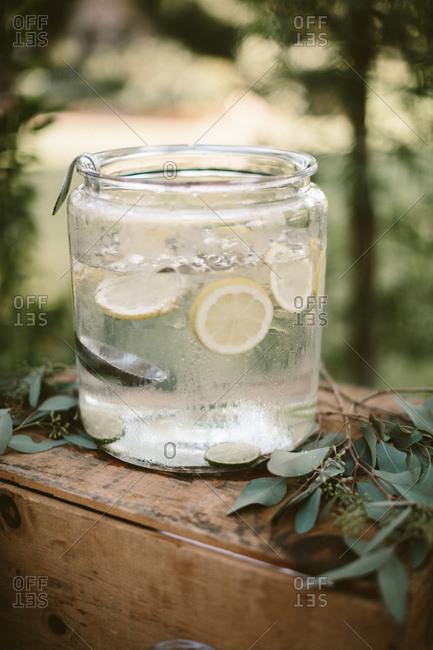 Lemon water drink station