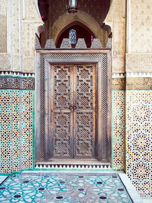 Madrasa Bou Inania in Fez, Morocco