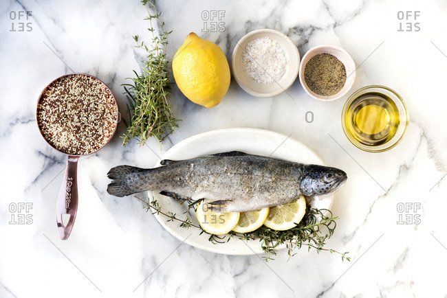 Whole rainbow trout ingredients