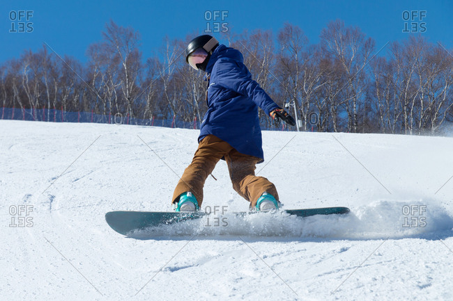 Young woman outdoor skiing