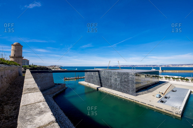 Marseille, France - March 7, 2017: Museum of European and Mediterranean Civilizations in France