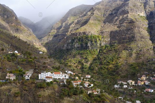 Lomo del Balo, Canary Islands, Spain - December 12, 2017: La Gomera- Valle Gran Rey