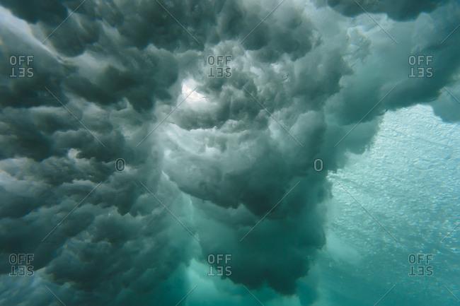 Indonesia- Bali- underwater- wave