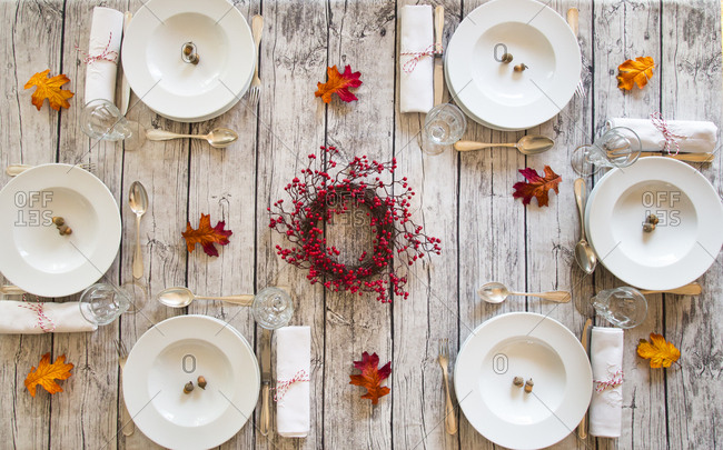 Autumnal laid table
