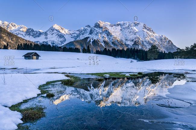 Germany- Bavaria- Upper Bavaria- Garmisch-Partenkirchen- Werdenfelser Land- Schmalensee