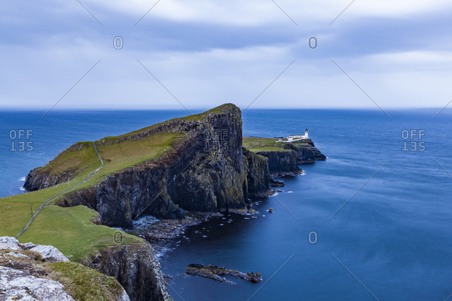 United Kingdom- Scotland- inner Hebrides- Isle of Skye- Neist Point- lighthouse in the evening