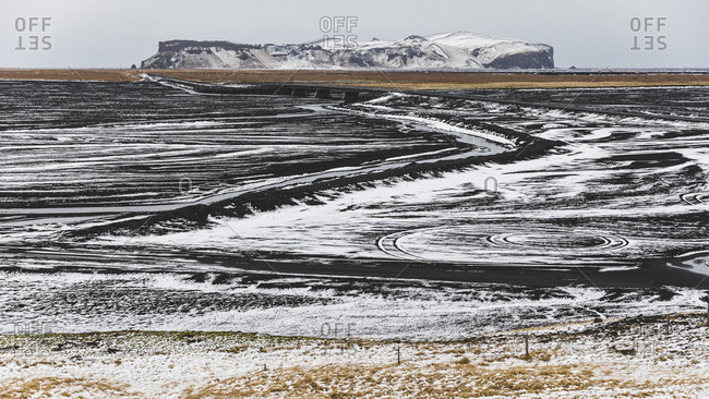 Iceland- Vik- Lava fields under snow