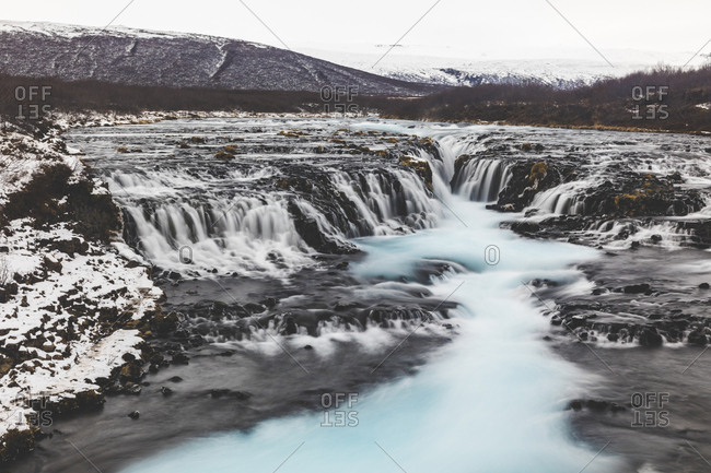Iceland- Bruarfoss waterfall- view of the waterfall