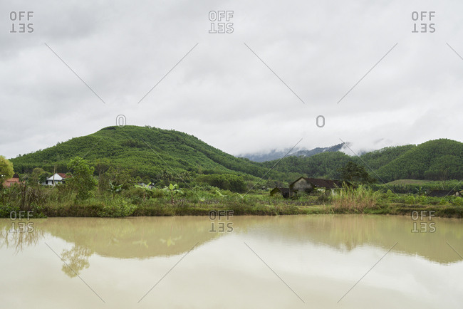 Traditional mountain landscape in central highlands, Vietnam