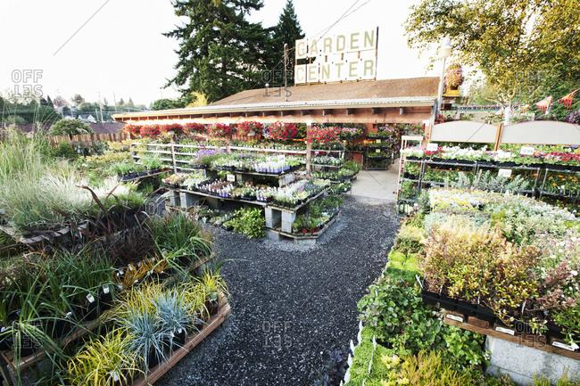 Garden center nursery exterior view.