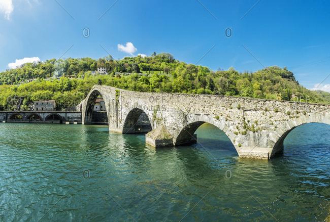 Ponte della Maddalena (called also Ponte del Diavolo - Devil Bridge), Tuscany, Italy