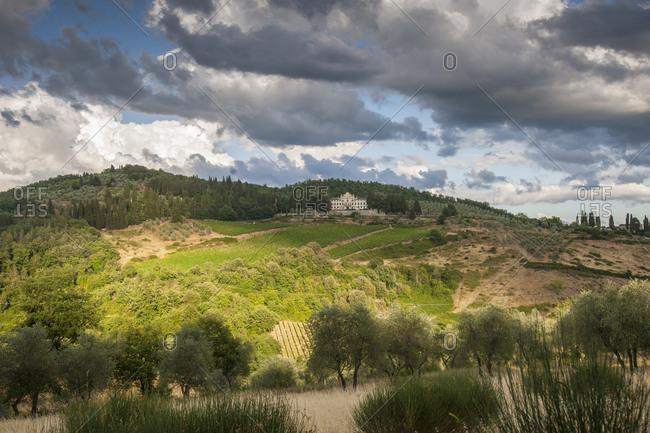 Vistarenni, a historic residence of the municipality of Gaiole, in the Chianti Classico, Gaiole in Chianti, Tuscany, Italy