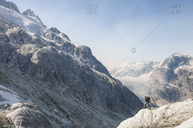 Mountaineering in Coast Mountain Range of British Columbia, Canada